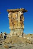 在偏僻的谷,犹他的岩石塔 库存照片