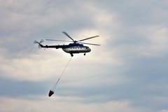 在偏心的米-17直升机2015年 免版税库存照片