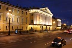 在偏僻寺院,圣徒Peterburg附近的宫殿 图库摄影