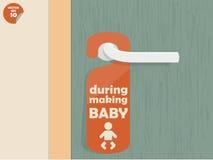 在做婴孩期间 免版税库存照片