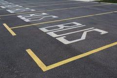 在停车场的停车空间 免版税库存照片