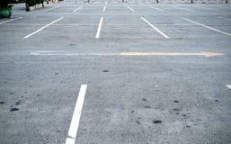 在停车场的空间 免版税库存图片