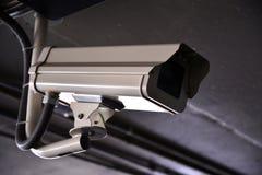 在停车场的CCTV 免版税库存图片
