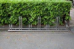在停车处的自行车 库存图片