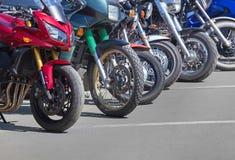 在停车的摩托车 图库摄影