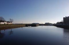 在停滞水闸之间在戈尔韦 库存照片