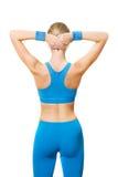 在健身培训人之后 免版税库存图片