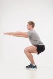 在健身房的锻炼 库存图片