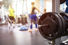在健身现代健身房 免版税库存图片