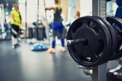在健身现代健身房 库存照片