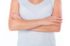 在健身以后的女孩 免版税库存图片