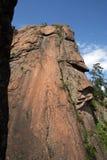 在储备克拉斯诺亚尔斯克柱子的岩石Takmak 免版税库存图片