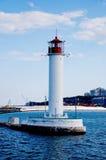 在傲德萨海港,乌克兰的灯塔 图库摄影