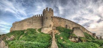 在傲德萨附近的中世纪Akkerman堡垒在乌克兰 免版税库存照片