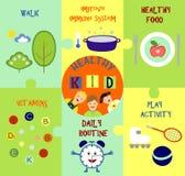 在儿童健康题目的Infographics  免版税图库摄影
