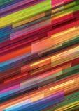 在充满活力的颜色的几何背景 皇族释放例证