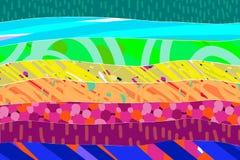 在充满活力的颜色的彩虹织地不很细手拉的背景摘要 向量例证