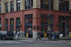 在先驱正方形,西雅图,华盛顿的玩具店 免版税库存照片