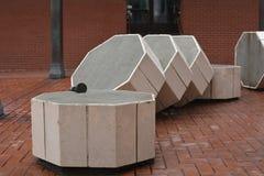 在先驱法院大楼正方形,波特兰,俄勒冈的被切的专栏 免版税库存图片