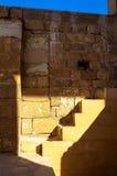 在光的埃及台阶 图库摄影