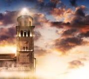 在光的塔 库存照片