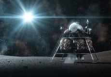 在光的空间著陆器 库存图片