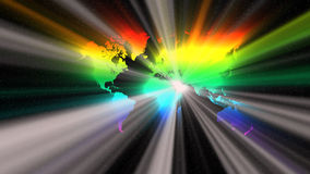 在光谱的世界 库存图片