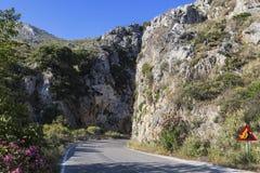 在克利特山的路, 库存图片