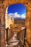 在克利特海岛上的古老威尼斯式堡垒Frangokastello 库存照片