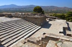 在克利特海岛的古老Phaestos在希腊 库存图片