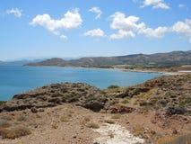 在克利特海岛,希腊上的Balos半岛 免版税库存照片