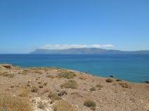 在克利特海岛,希腊上的Balos半岛 库存图片