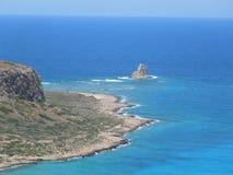 在克利特海岛,希腊上的Balos半岛 免版税库存图片