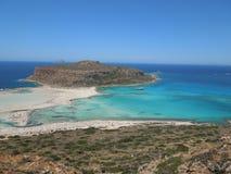 在克利特海岛,希腊上的Balos半岛 库存照片