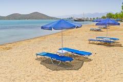 在克利特爱琴海的节假日  免版税库存图片
