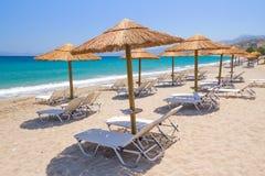 在克利特爱琴海的假日  库存照片