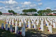 在克拉克公墓的2018 VFW服务,菲律宾 图库摄影