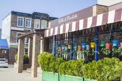 在克拉斯诺达尔的咖啡馆 免版税库存照片