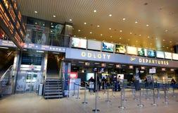 在克拉科夫机场登记 免版税图库摄影