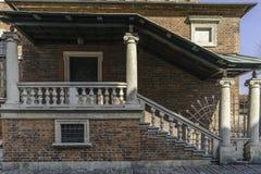 在克拉科夫的犹太部分的老犹太教堂 库存图片