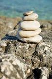在克罗地亚人的光滑的禅宗石头 库存图片