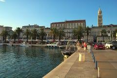 在克罗地亚分裂的城市 库存照片