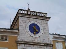 在克罗地亚海岛茨雷斯岛上的历史的城市茨雷斯岛 免版税库存照片