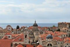 在克罗地亚,欧洲打开杜布罗夫尼克市看法  免版税库存图片