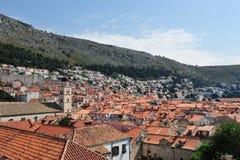 在克罗地亚,欧洲打开杜布罗夫尼克市看法  库存图片