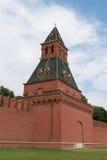 在克里姆林宫城堡的看法在莫斯科,俄罗斯 免版税库存图片