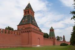 在克里姆林宫城堡的看法在莫斯科,俄罗斯 图库摄影