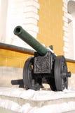 在克里姆林宫显示的老大炮 库存照片