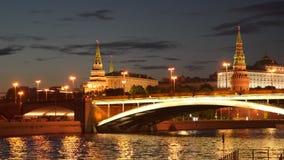 在克里姆林宫附近的桥梁在莫斯科俄罗斯 股票视频