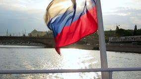 在克里姆林宫,莫斯科的小船游览 股票录像